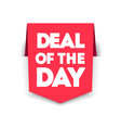 deal day vertical ribbon bookmark tag vector image vector image