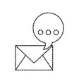 email concept bubble speech message chatting vector image