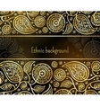 Ethnic background in gold and black colors vector image vector image