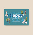 facebook template with world car free day concept vector image vector image