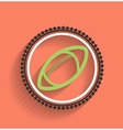 football icon ball flat design vector image