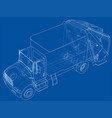 garbage truck concept vector image vector image