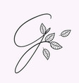 handwritten letter g monogram or logo brand vector image vector image