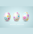 happy easter holiday composition with 3d eggs vector image vector image