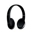 headphone black music earphone or gaming headset vector image