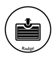 Icon of Badge with clip vector image vector image