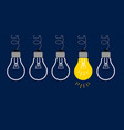 idea light bulbs vector image