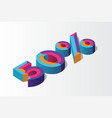 isometric 50 percent off 3d sale background vector image vector image