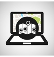 laptop map gps pointers vector image vector image