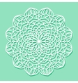 Mandala white lace ornament vector image