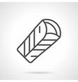 Mexican tortilla black line icon vector image vector image
