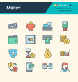 money icons filled outline design collection 33 vector image