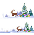 northern winter backgrounds vector image