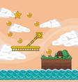pixelated game scenery vector image