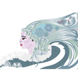 Queen of winter vector image