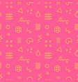 retro memphis seamless pattern 80-90s style vector image vector image