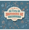 Retro typography card Independence Day vector image vector image