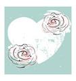 romantic rose border design vector image vector image