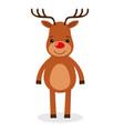 santa s reindeer of cute reindeer vector image vector image