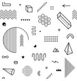 seamless pattern with geometric graphic elements vector image vector image
