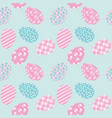 seamless pattern with white easter eggs and polka vector image