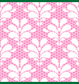 seamless white lace pattern on pink background vector image vector image