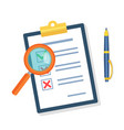 search the document icon vector image vector image