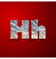 set of aluminum or silver foil letters Letter H vector image vector image