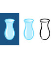 set of blue jugs on different backgrounds vector image