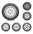 set of tires vector image vector image