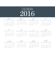 Simple Calendar 2016 Abstract calendar for 2016 vector image