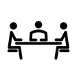simple icon of the meeting vector image vector image