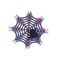spider on web colorful icon vector image vector image