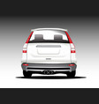suv white color car back side vector image