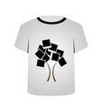 T Shirt Template- Polaroid tree vector image vector image