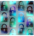 Technology background with locks vector image