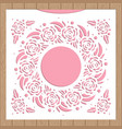 template for laser cutting envelope for wedding vector image vector image
