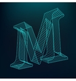 The letter M Polygonal letter Low poly model vector image vector image