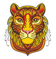 tiger colorful vector image vector image