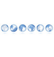 transparent world globe 3d realistic sphere vector image vector image