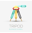 Tripod icon company logo business symbol concept vector image vector image