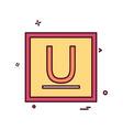 underline icon design vector image vector image