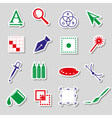 various computer graphics color stickers set eps10 vector image vector image