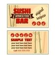 visiting card sushi bar vector image