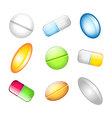 vitamins vector image vector image