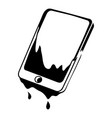 water smartphone icon simple black style vector image vector image