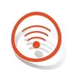 Wi-Fi sign sticker orange vector image vector image