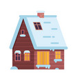 winter rural house or alpian chalet vector image vector image