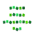 Words Happy Saint Patricks Day vector image vector image