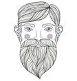 zentangle portrait bearder man vector image